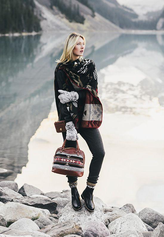 Roots - Blanket Wrap, Sherpa Jodphur boots