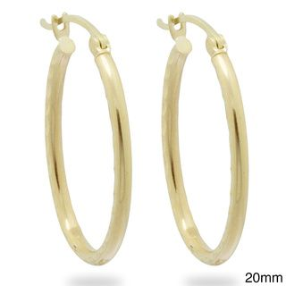 @Overstock.com - Gioelli 14k Yellow Gold Diamond-cut Oval-shaped Hoop Earrings - Saddleback clasps secure these bold oval-shaped hoop earrings by Gioelli. Rendered in polished 14-karat yellow gold, these earrings are available in your choice of 28-mm or 20-mm size options.  http://www.overstock.com/Jewelry-Watches/Gioelli-14k-Yellow-Gold-Diamond-cut-Oval-shaped-Hoop-Earrings/8366165/product.html?CID=214117 CAD              162.76