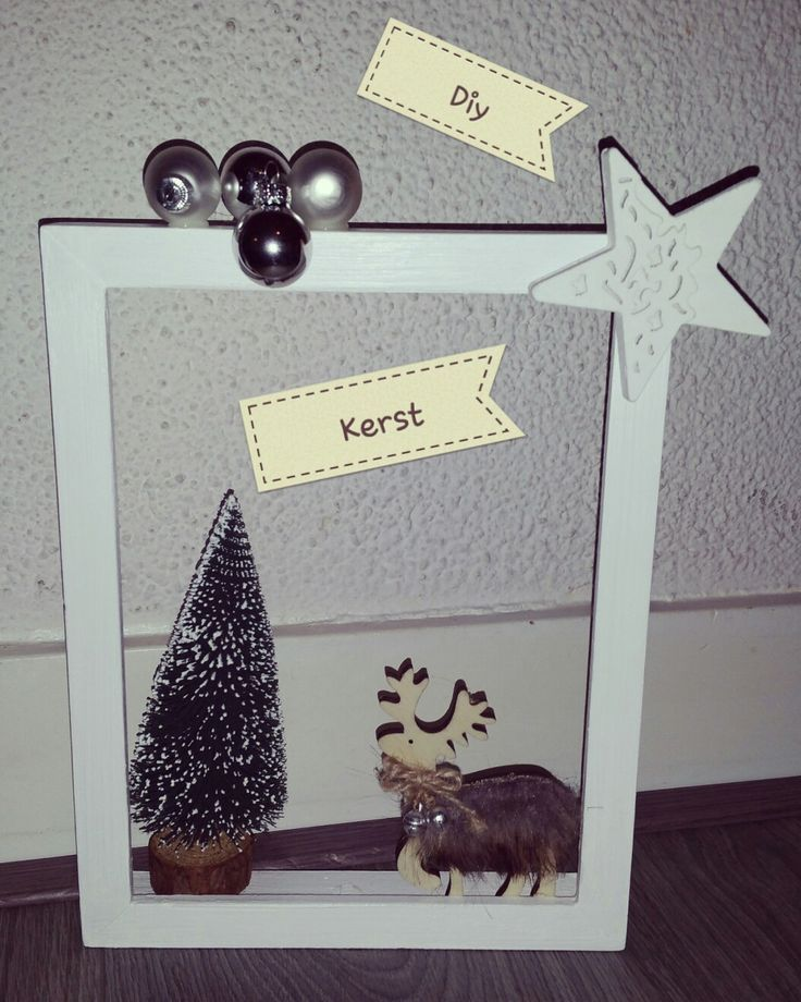 Diy/kerst/fotolijstje/creatief/zelfgemaakt