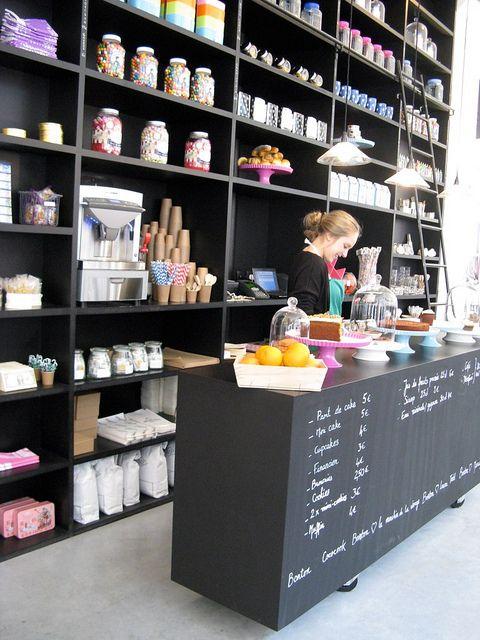 Bonton | Paris, blackboard counter wrap