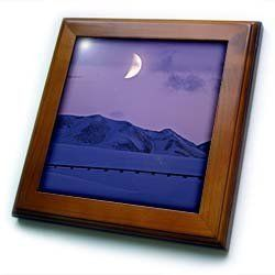"Alaska, Brooks Range, Moon, Trans-Alaskan Pipeline - US02 PSO0507 - Paul Souders - 8x8 Framed Tile by 3dRose. $22.99. Solid wood frame. Keyhole in the back of frame allows for easy hanging.. Cherry Finish. Dimensions: 8"" H x 8"" W x 1/2"" D. Inset high gloss 6"" x 6"" ceramic tile.. Alaska, Brooks Range, Moon, Trans-Alaskan Pipeline - US02 PSO0507 - Paul Souders Framed Tile is 8"" x 8"" with a 6"" x 6"" high gloss inset ceramic tile, surrounded by a solid wood frame wit..."
