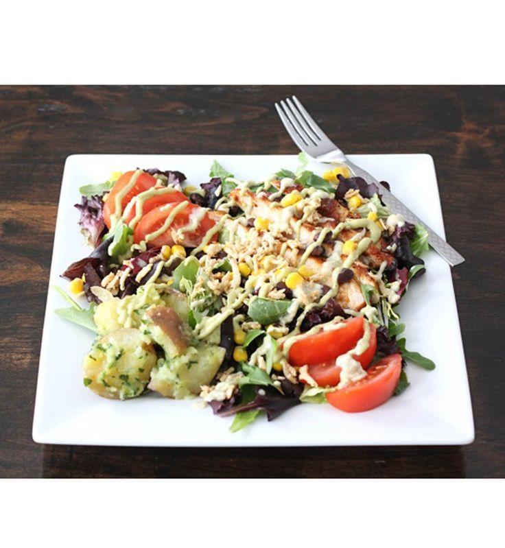 Salade d'été : Poulet façon barbecue