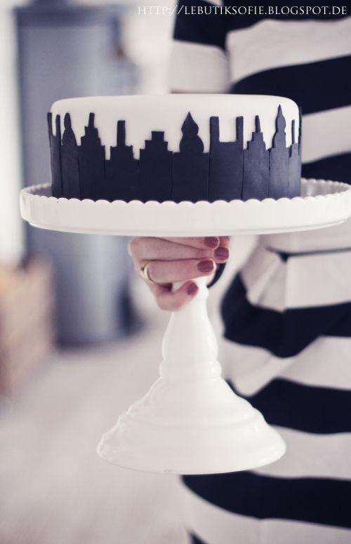 Skyline Torte Fondant Motivtorte