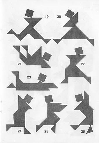 Figuras con Tangram y soluciones