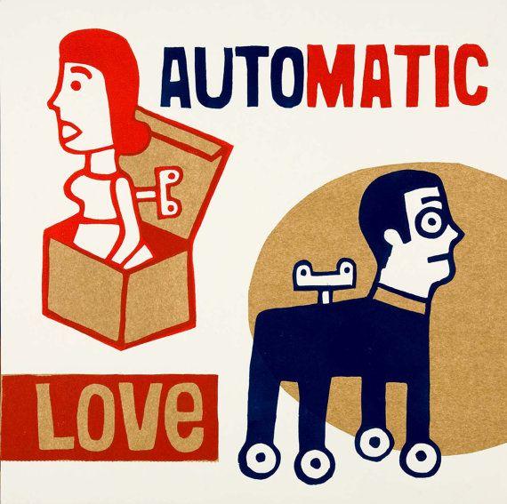 amor automatico por ARTeFAKTshop en Etsy