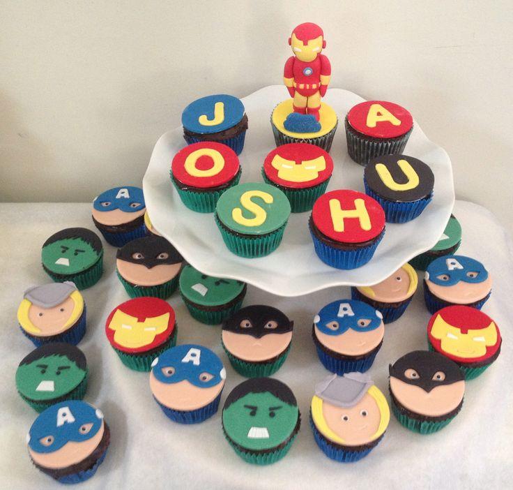 Super Hero Cupcakes By http://sugarcloudcakes.com.au