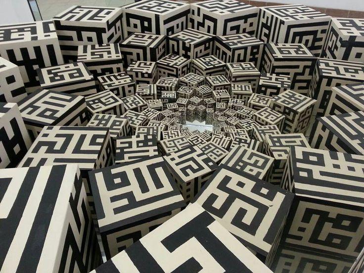 Stunning contemporary installation piece by Shahida Ahmed.