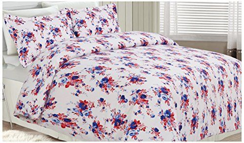 Tribeca Living Rose Garden Printed Flannel 200 GSM Luxury Duvet Cover Set King Multicolor *** Check out the image by visiting the link.