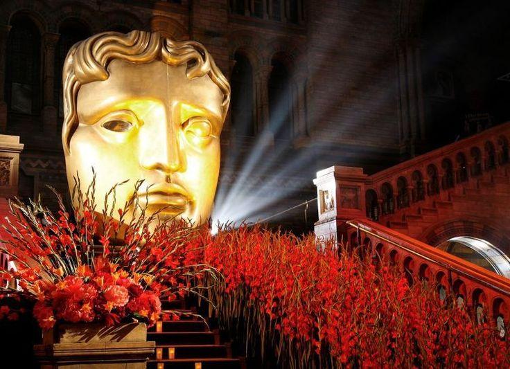 #BAFTA  Our red carpet of Gladioli for BAFTA TV awards at The Natural History Museum.  #Events #RebelRebel