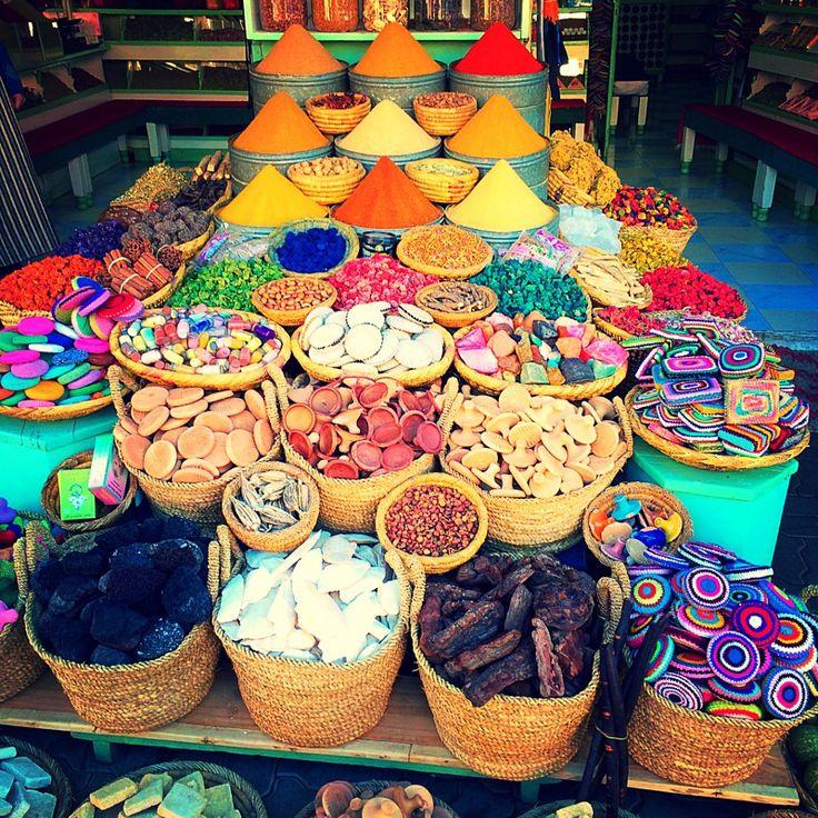 Spices in Marrakech #morocco #medina #souks  so much colour