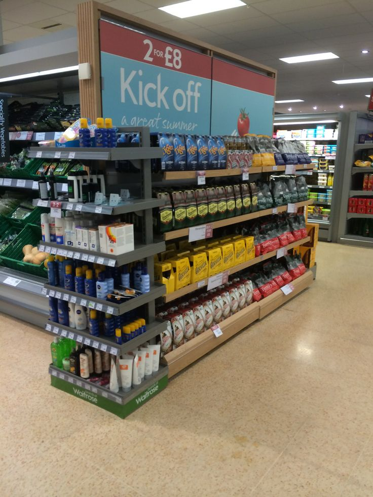 World Cup Waitrose Themed Display Promotions