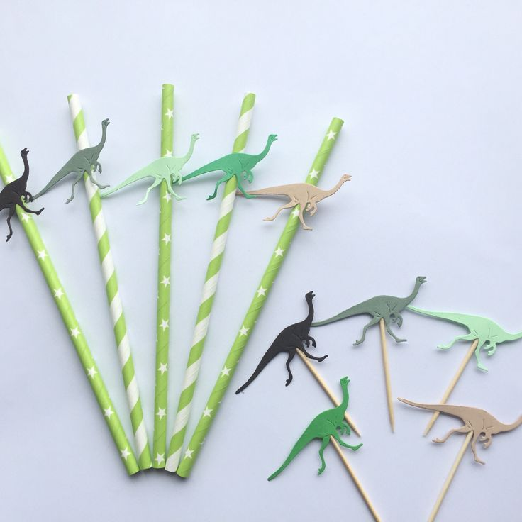 A personal favourite from my Etsy shop https://www.etsy.com/uk/listing/556798009/dinosaur-party-kit-dinosaur-straws