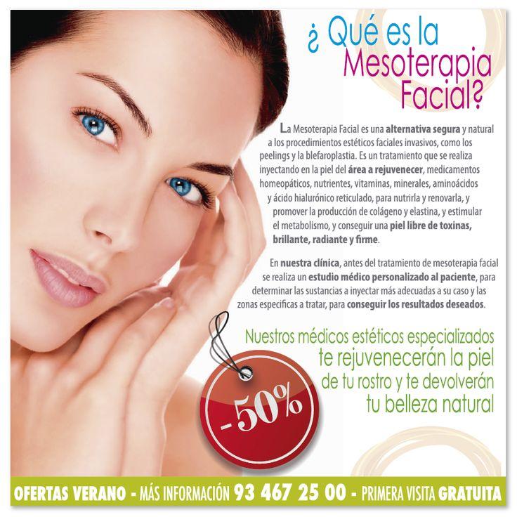 ¡ESTE VERANO DATE EL CAPRICHO Y REJUVENECE TU ROSTRO!! Mesoterapia Facial, la alternativa segura y natural. // Consulta NUESTRAS OFERTAS Y PROMOCIONES // http://www.iccestetico.es/estetica-facial/mesoterapia-facial/