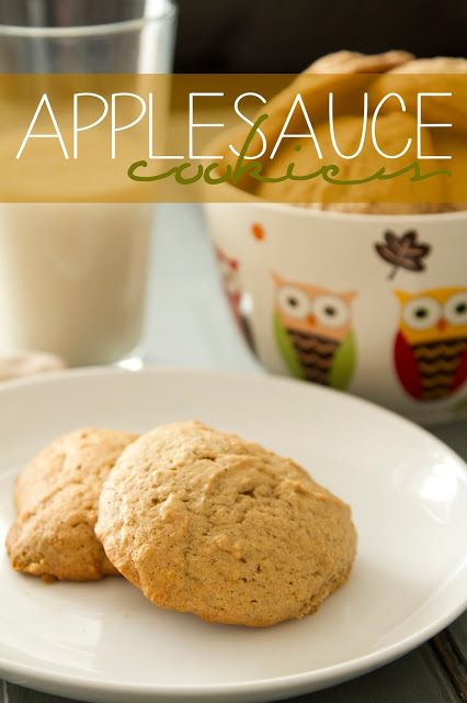 Applesauce Cookies, similar to pumpkin cookies but a fun twist. My grandma made these with raisins growing up but I prefer them plain.