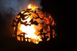 Yes please.  This is awesome.  Custom firepit by the Brits. Fairy Ball 1, custom made. The Firepit Company.