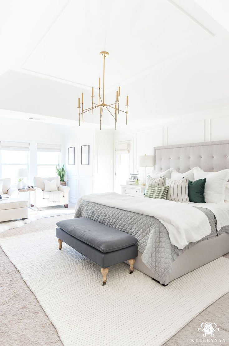 Chic and Glam with Pink White and Gold Bedroom