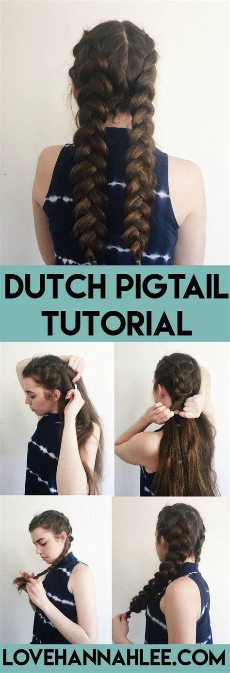 Dutch Pigtail Boxer Braid Tutorial Love Hannah Lee By, #Boxer #Braid #Dutch #Hannah #Lee #Lov…
