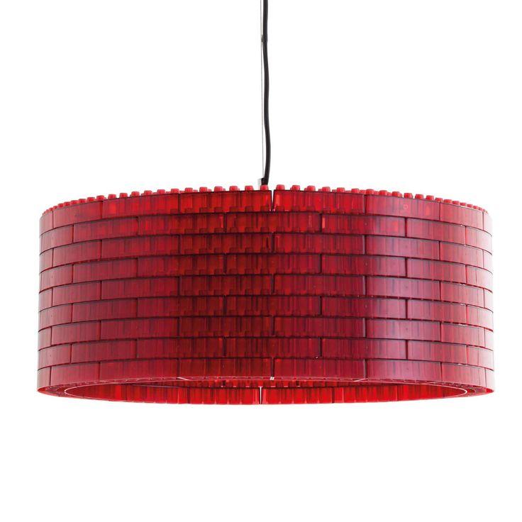 Kap van legoblokjes, verkrijgbaar in rood, paars, bruin, transparant of zwart