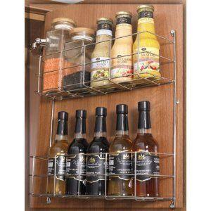 Suki Hardware 2 Tier Door Mounted Storage Rack Amazon Co Uk Kitchen