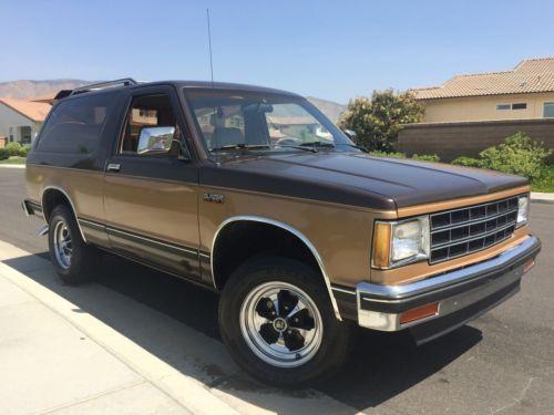 1987 Chevrolet S-10 S10 Blazer / Tahoe