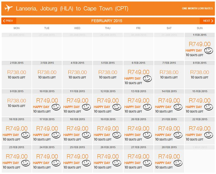 WOW! The current Mango Happy Day Sale runs until Feb 2015! Check out prices from Lanseria to Cape Town Feb next year! #HDS #CheapFlights #MangoAirlines