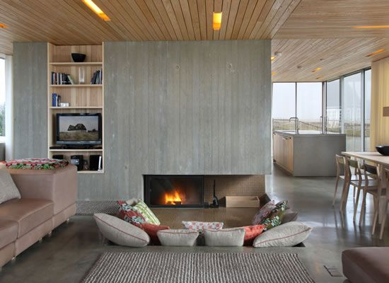 Living area - wood and natural materials make this home warm and tactile.