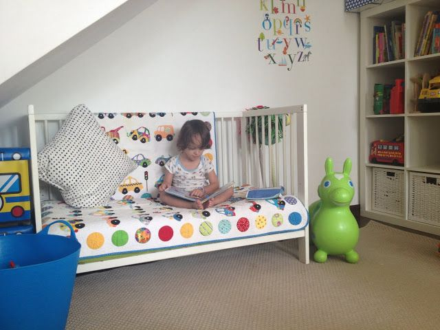 Dont get rid of a crib! Add some cushions on the ends too if you wanted. Use it for a little reading couch for them! GREAT idea for the sensory room.