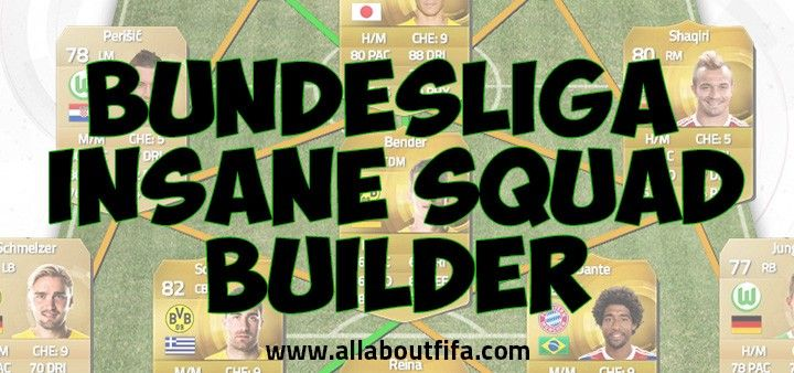 Insane Bundesliga Squad Builder