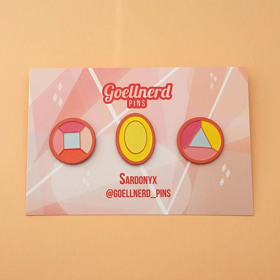 Steven Universe Sardonyx Gem Pins Soft Enamel Pins Crystal Gems Fusion Best Friend Pins