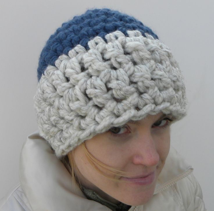 Crochet Beanie Hat Using 2 Strands Of Super Bulky Yarn