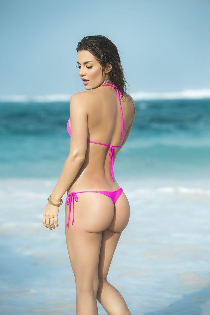 bikini dare Hot Pink Basic Tri-Top Tie Side Thong Bikini, Dare to go bare!