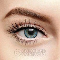 Blue Rain Tri Tone Colored Prescription Contact Lenses (90 Day)