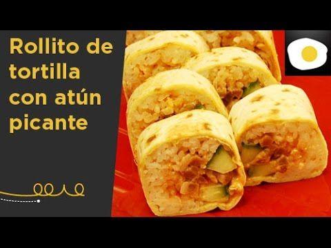 Rollito de tortilla con atún picante (Receta de Hung Fai) | Oriental y tal - YouTube