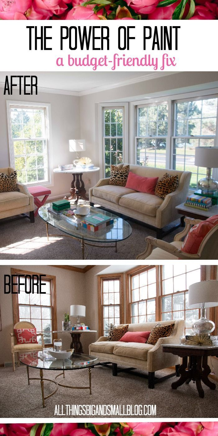 The Power of Paint Living Room Before and