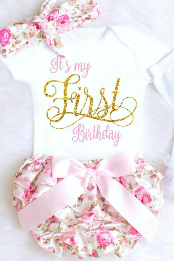 The Sweetest Baby Girl First Birthday Outfit EVER Its My Onesie With Floral Bloomers Make Perfect 1st For Girls