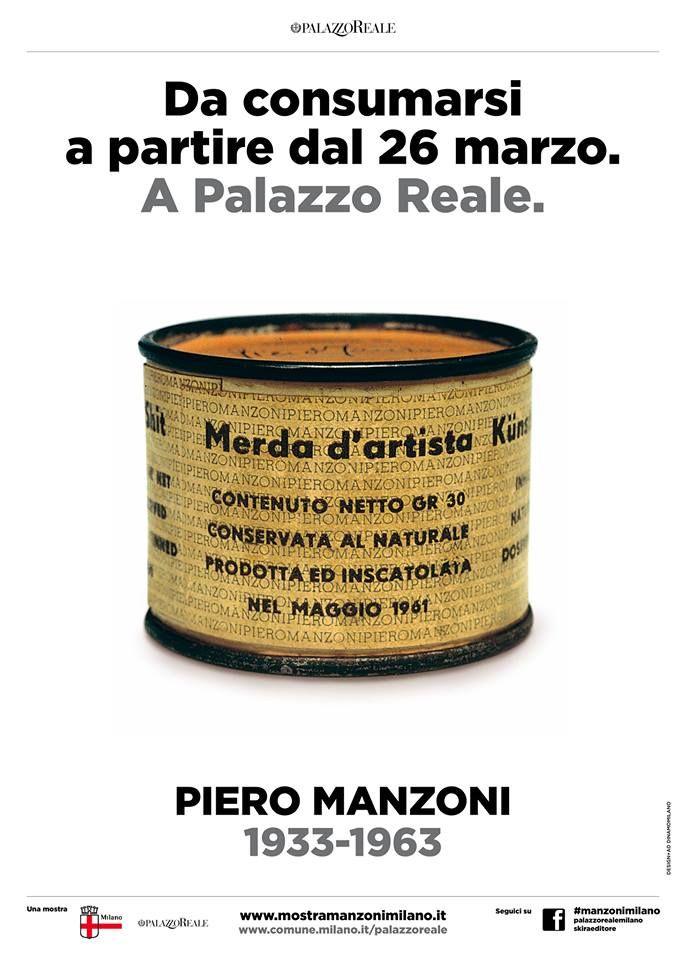 #art Piero Manzoni a Palazzo Reale dal 26 marzo al 2 giugno  www.mostramanzonimilano.it