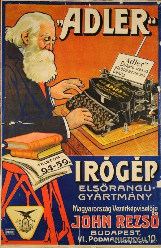 Adler írógép elsőrendű találmány....