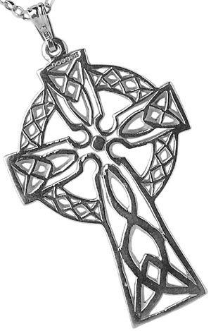 IrishJewelryOnline.com: White Gold Large Filigree Celtic Cross