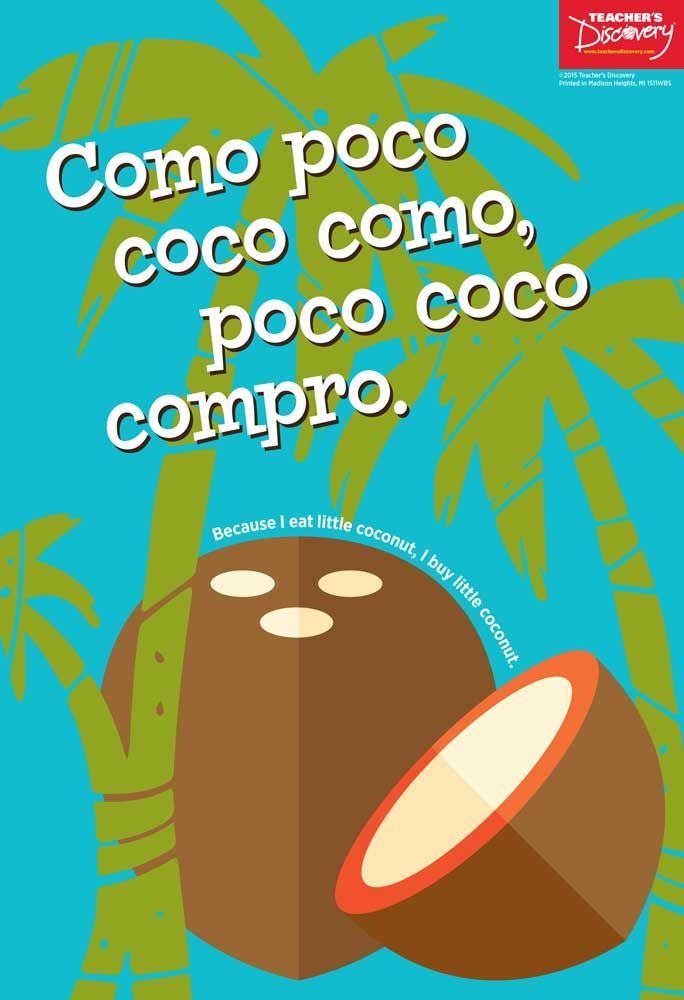 Spanish Tongue Twisters Posters Set of 3, Spanish: Teacher's Discovery