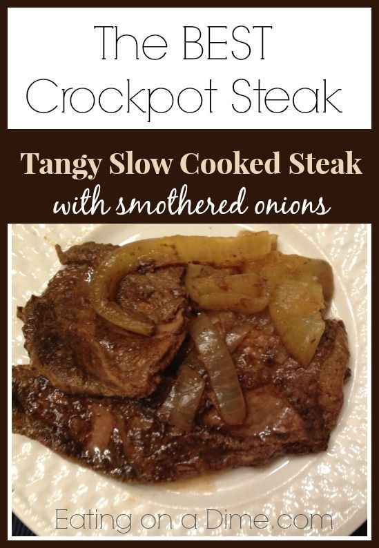 Tangy Crockpot steak - The best way to cook your steak!