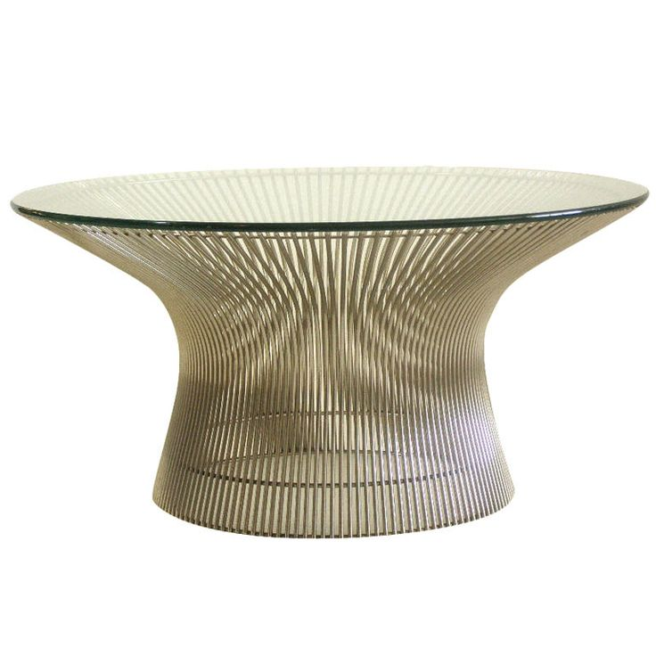 Warren Platner Iconic Chrome Spoke Cocktail Table. Modern Side ...