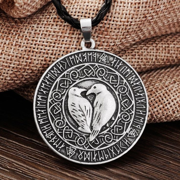 Norse Vikings Valknut Raven Rune Knot Viking Amulet