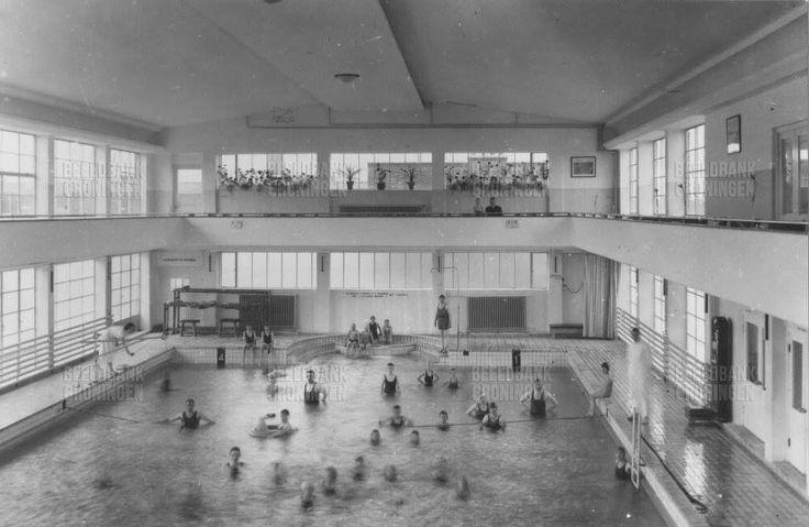 Zwembad Oosterhamrikkade Noorderbad 1935 - Foto's SERC