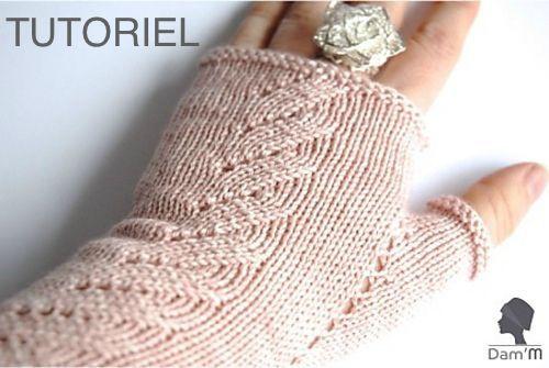 tuto mitaines tricot en français