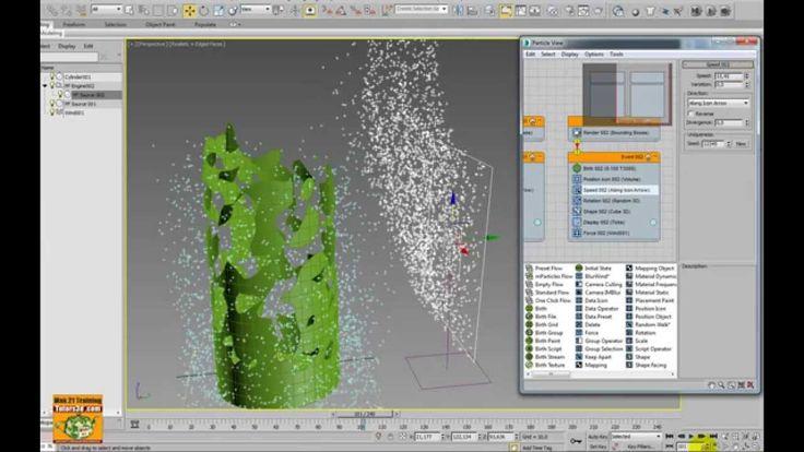3ds max 2015 Particle Face Creator Particle Flow