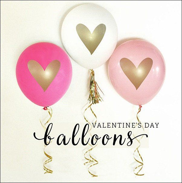 Surprise your love on Valentine's Day or decorate for your party with our boutique gold heart balloons in red, white and hot pink. Metallic stamped in trendy style for centerpieces, dessert table deco