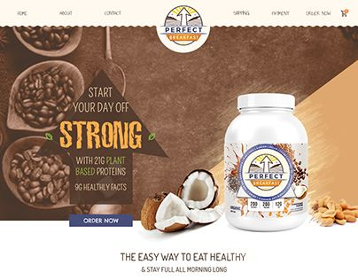 """Check out new work on my @Behance portfolio: """"Home Page Design for Breakfast Protein"""" http://be.net/gallery/58525355/Home-Page-Design-for-Breakfast-Protein"""