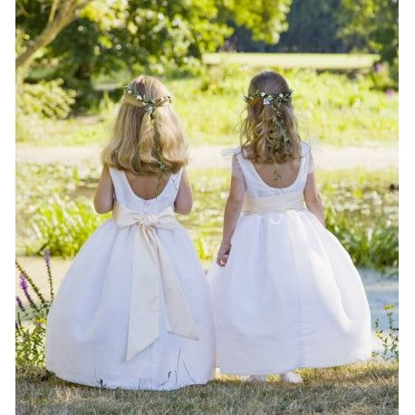 Our new collection is now available online! Celeste & Olympia spotted tulle designer flower girl dresses littleeglantine.com