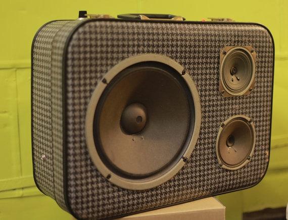 Pretty freaking Rad! Rockford JukeCase Custom Portable HiFi by SonValise on Etsy, $420.00