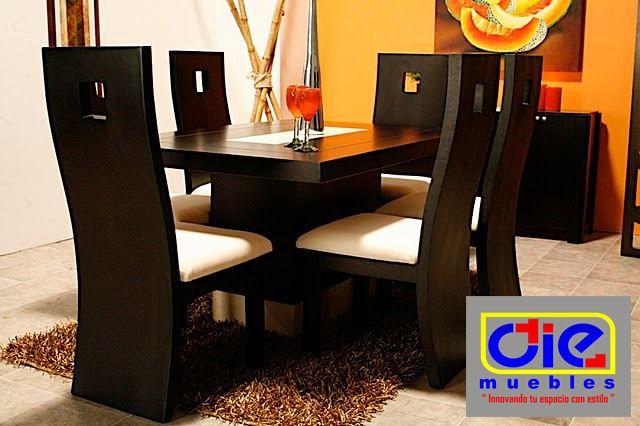 Moderno y elegante comedor En color chocolate.